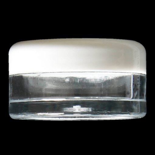 5ml screw top jar polystyrene (PS) with white lid