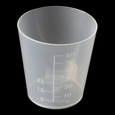 60ml tall gallipot/medicine measure polypropylene (PP)