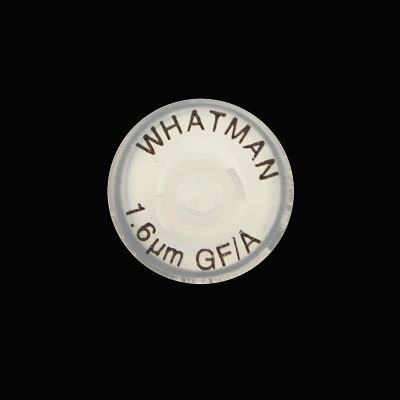 Whatman™ syringe filter 13mm 1.6µm GMF membrane grade GF/A