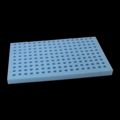 Tube rack - 170 capacity x 10ml holes blue foam