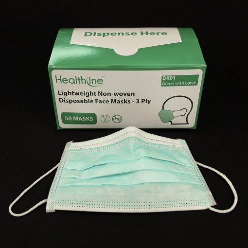 3 ply soft face masks with ear loops - non woven
