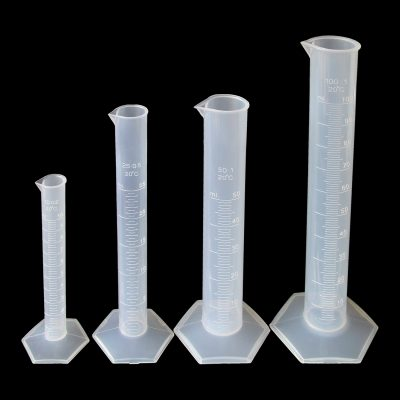 Graduated measuring cylinders set of 4: 10/25/50/100ml polypropylene (PP)