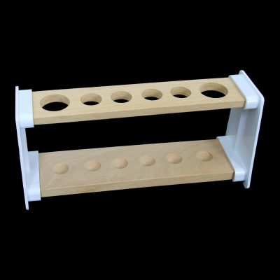Tube stand - 6 capacity wooden