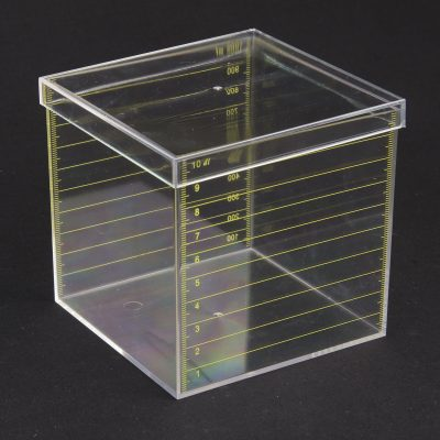 1 litre square graduated measuring box polystyrene (PS)