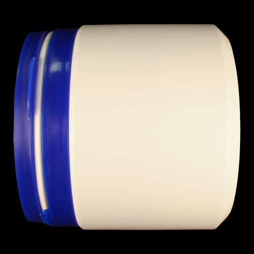 500ml tamper evident container white polyethylene (HDPE) with blue cap