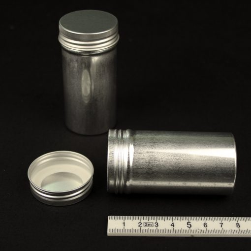 80ml screw top canister, aluminium (AL)