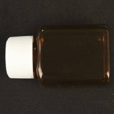 90ml plastic amber tablet container with child proof cap