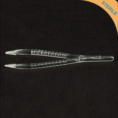 Sterile disposable plastic forceps/tweezers - individually sealed