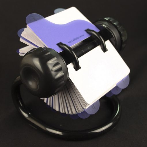 Rotary card filing system with 250 plain cards