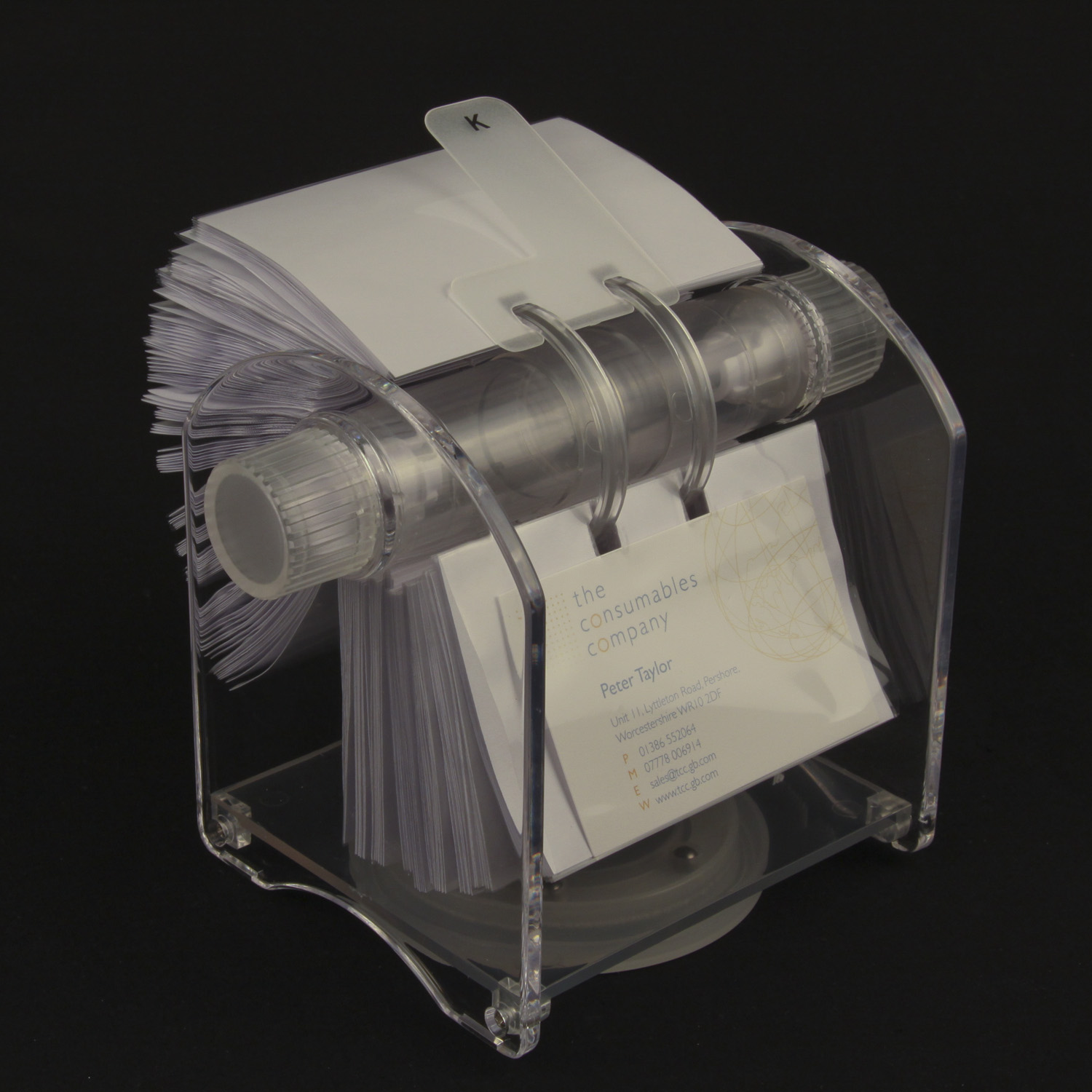 Rotary card filing system-200 bus card sleeves | Rolodex | TCC
